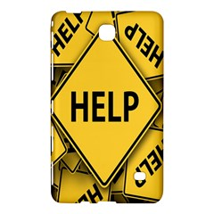 Caution Road Sign Help Cross Yellow Samsung Galaxy Tab 4 (8 ) Hardshell Case