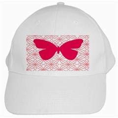 Butterfly Animals Pink Plaid Triangle Circle Flower White Cap