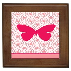 Butterfly Animals Pink Plaid Triangle Circle Flower Framed Tiles
