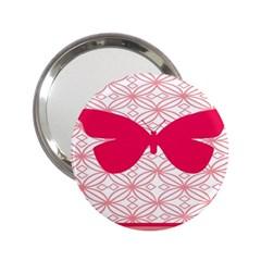 Butterfly Animals Pink Plaid Triangle Circle Flower 2.25  Handbag Mirrors