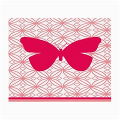 Butterfly Animals Pink Plaid Triangle Circle Flower Small Glasses Cloth (2 Side)