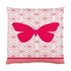 Butterfly Animals Pink Plaid Triangle Circle Flower Standard Cushion Case (Two Sides)