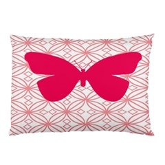 Butterfly Animals Pink Plaid Triangle Circle Flower Pillow Case