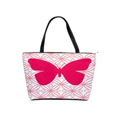 Butterfly Animals Pink Plaid Triangle Circle Flower Shoulder Handbags