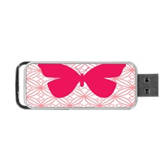 Butterfly Animals Pink Plaid Triangle Circle Flower Portable USB Flash (Two Sides)