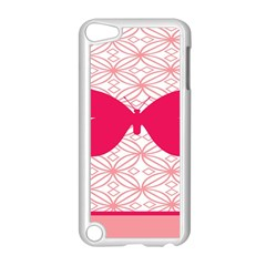 Butterfly Animals Pink Plaid Triangle Circle Flower Apple iPod Touch 5 Case (White)