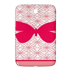Butterfly Animals Pink Plaid Triangle Circle Flower Samsung Galaxy Note 8.0 N5100 Hardshell Case