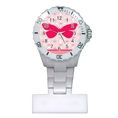 Butterfly Animals Pink Plaid Triangle Circle Flower Plastic Nurses Watch