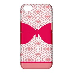 Butterfly Animals Pink Plaid Triangle Circle Flower Apple iPhone 5C Hardshell Case