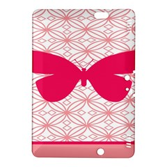Butterfly Animals Pink Plaid Triangle Circle Flower Kindle Fire HDX 8.9  Hardshell Case