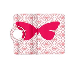 Butterfly Animals Pink Plaid Triangle Circle Flower Kindle Fire HD (2013) Flip 360 Case