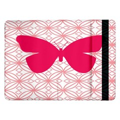 Butterfly Animals Pink Plaid Triangle Circle Flower Samsung Galaxy Tab Pro 12.2  Flip Case