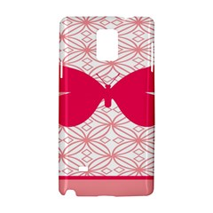 Butterfly Animals Pink Plaid Triangle Circle Flower Samsung Galaxy Note 4 Hardshell Case