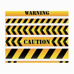 Caution Road Sign Warning Cross Danger Yellow Chevron Line Black Small Glasses Cloth (2-Side)