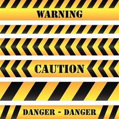 Caution Road Sign Warning Cross Danger Yellow Chevron Line Black Magic Photo Cubes