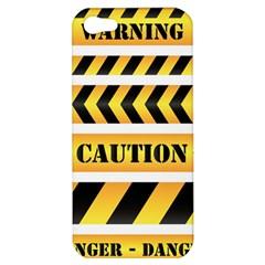 Caution Road Sign Warning Cross Danger Yellow Chevron Line Black Apple iPhone 5 Hardshell Case