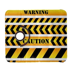 Caution Road Sign Warning Cross Danger Yellow Chevron Line Black Galaxy S3 (Flip/Folio)