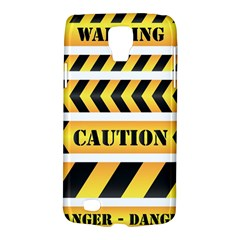 Caution Road Sign Warning Cross Danger Yellow Chevron Line Black Galaxy S4 Active