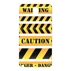 Caution Road Sign Warning Cross Danger Yellow Chevron Line Black Samsung Galaxy Note 3 N9005 Hardshell Back Case