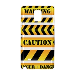 Caution Road Sign Warning Cross Danger Yellow Chevron Line Black Samsung Galaxy Note 4 Hardshell Case