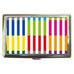 Color Bars Rainbow Green Blue Grey Red Pink Orange Yellow White Line Vertical Cigarette Money Cases