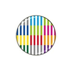Color Bars Rainbow Green Blue Grey Red Pink Orange Yellow White Line Vertical Hat Clip Ball Marker (10 pack)