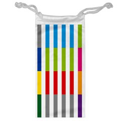 Color Bars Rainbow Green Blue Grey Red Pink Orange Yellow White Line Vertical Jewelry Bag