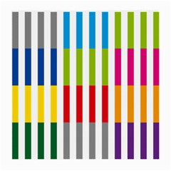 Color Bars Rainbow Green Blue Grey Red Pink Orange Yellow White Line Vertical Medium Glasses Cloth (2-Side)