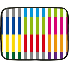 Color Bars Rainbow Green Blue Grey Red Pink Orange Yellow White Line Vertical Double Sided Fleece Blanket (Mini)