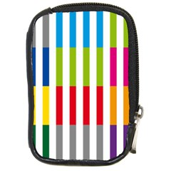 Color Bars Rainbow Green Blue Grey Red Pink Orange Yellow White Line Vertical Compact Camera Cases