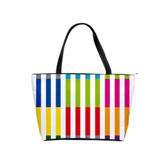 Color Bars Rainbow Green Blue Grey Red Pink Orange Yellow White Line Vertical Shoulder Handbags