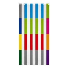 Color Bars Rainbow Green Blue Grey Red Pink Orange Yellow White Line Vertical Shower Curtain 36  X 72  (stall)
