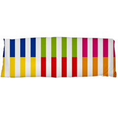 Color Bars Rainbow Green Blue Grey Red Pink Orange Yellow White Line Vertical Body Pillow Case Dakimakura (Two Sides)