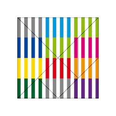 Color Bars Rainbow Green Blue Grey Red Pink Orange Yellow White Line Vertical Acrylic Tangram Puzzle (4  x 4 )