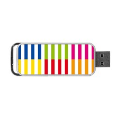Color Bars Rainbow Green Blue Grey Red Pink Orange Yellow White Line Vertical Portable USB Flash (Two Sides)