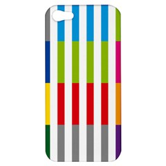 Color Bars Rainbow Green Blue Grey Red Pink Orange Yellow White Line Vertical Apple iPhone 5 Hardshell Case