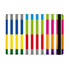Color Bars Rainbow Green Blue Grey Red Pink Orange Yellow White Line Vertical Apple iPad Mini Flip Case