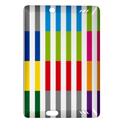 Color Bars Rainbow Green Blue Grey Red Pink Orange Yellow White Line Vertical Amazon Kindle Fire HD (2013) Hardshell Case