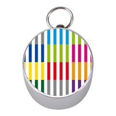 Color Bars Rainbow Green Blue Grey Red Pink Orange Yellow White Line Vertical Mini Silver Compasses