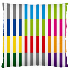 Color Bars Rainbow Green Blue Grey Red Pink Orange Yellow White Line Vertical Standard Flano Cushion Case (Two Sides)