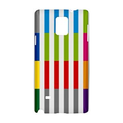 Color Bars Rainbow Green Blue Grey Red Pink Orange Yellow White Line Vertical Samsung Galaxy Note 4 Hardshell Case