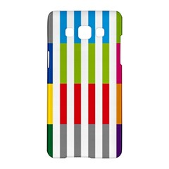 Color Bars Rainbow Green Blue Grey Red Pink Orange Yellow White Line Vertical Samsung Galaxy A5 Hardshell Case