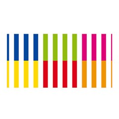 Color Bars Rainbow Green Blue Grey Red Pink Orange Yellow White Line Vertical Satin Wrap