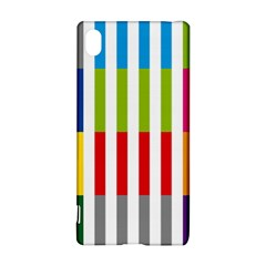 Color Bars Rainbow Green Blue Grey Red Pink Orange Yellow White Line Vertical Sony Xperia Z3+