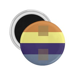 Color Therey Orange Yellow Purple Blue 2.25  Magnets
