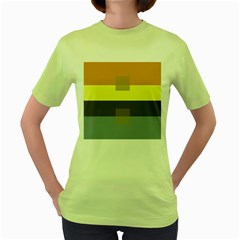Color Therey Orange Yellow Purple Blue Women s Green T Shirt