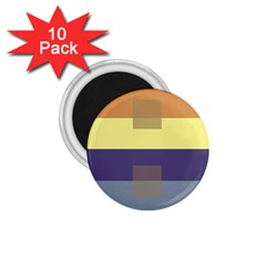 Color Therey Orange Yellow Purple Blue 1 75  Magnets (10 Pack)