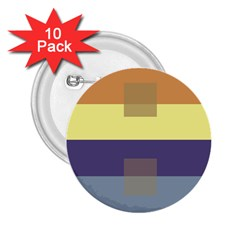 Color Therey Orange Yellow Purple Blue 2.25  Buttons (10 pack)