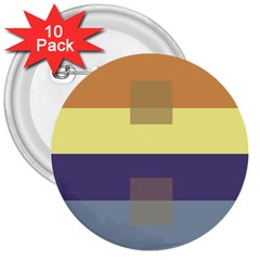 Color Therey Orange Yellow Purple Blue 3  Buttons (10 pack)