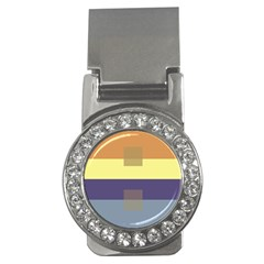Color Therey Orange Yellow Purple Blue Money Clips (CZ)
